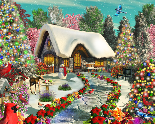 Snowy Delight Jigsaw Puzzle, New Jigsaw Puzzles: Vermont