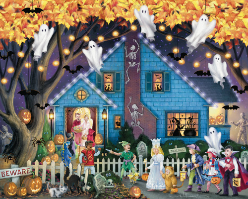 Ghostly Gathering Jigsaw Puzzle