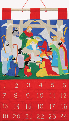 Alleluia Fabric Advent Calendar