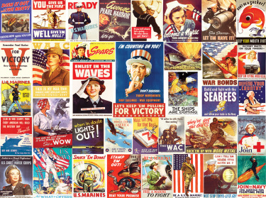 Vintage World War II Posters Jigsaw Puzzle