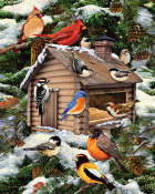 Log Cabin Birdhouse Jigsaw Puzzle