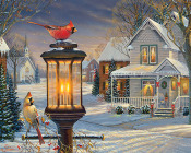 Cardinals in Winter Jigsaw Puzzle
