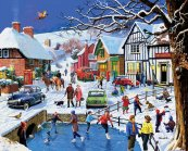 Festive Village Jigsaw Puzzle
