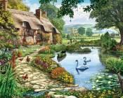 Lakeside Cottage Jigsaw Puzzle