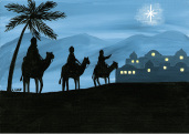 Magi from East Christmas Card