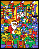 Santa's Workshop Color Your Own Advent Calendar
