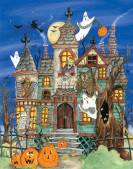 Haunted House Countdown to Halloween Calendar