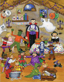 Halloween Party Countdown to Halloween Calendar