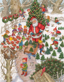 Santa's Tree Farm Advent Calendar