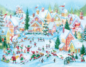Elf Village Advent Calendar
