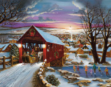 Covered Bridge Christmas Advent Calendar