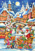 Santa's Here Advent Calendar