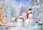 Christmas Snowmen Christmas Card