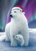 Polar Bear Hugs Christmas Card