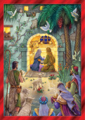 Peaceful Nativity Christmas Card