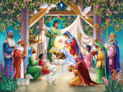 Magi at the Manger Jigsaw Puzzle
