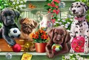 Garden Puppies Kid's Jigsaw Puzzle