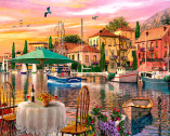 Sunset Harbour Jigsaw Puzzle