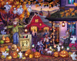 Halloween Barn Dance Jigsaw Puzzle
