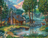 House by the Lake Jigsaw Puzzle