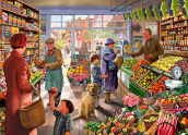 Village Grocer Jigsaw Puzzle