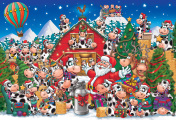 Christmas Cow Party Jigsaw Puzzle