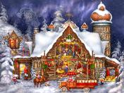 Santa's Barn Jigsaw Puzzle