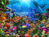 Magical Undersea Turtle Jigsaw Puzzle