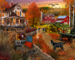 Country Inn & Farm Jigsaw Puzzle