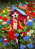 Patriotic Birdhouse Jigsaw Puzzle