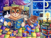 Kittens' Bedtime Jigsaw Puzzle