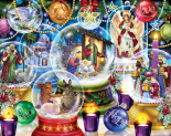 Nativity Snow Globes Jigsaw Puzzle