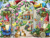 Springing Up Gnomes Jigsaw Puzzle