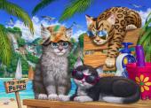 Beach Cats Jigsaw Puzzle