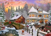 Country Christmas Jigsaw Puzzle