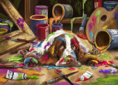 Puppy Picasso Jigsaw Puzzle
