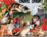 Garden Cats Jigsaw Puzzle