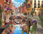 Venetian Waterway Jigsaw Puzzle