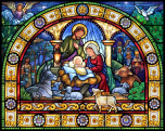Stained Glass Holy Night Jigsaw Puzzle