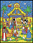 Starlit Manger Color Your Own Advent Calendar