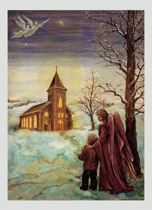 christmas vigil christmas card - Religious Christmas Cards