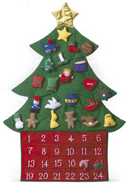 O Christmas Tree Fabric Advent Calendar