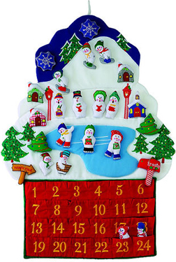 Snowmen Fabric Advent Calendar