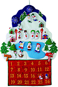 Snowmen Fabric Advent Calendar