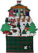 Santa's Workshop Fabric Advent Calendar