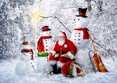 Snowy Friends Christmas Card