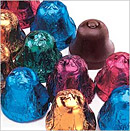 Dark Chocolate Holiday Bells 24pc