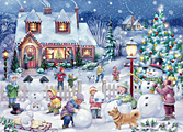 Snowman Celebration Christmas Card