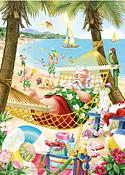 Santa's Vacation Christmas Card