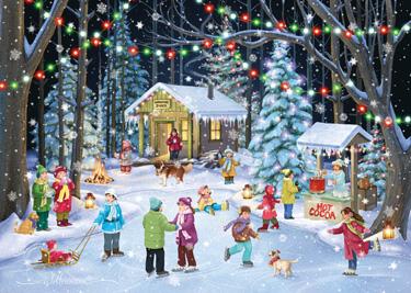 Woodland Skaters Christmas Card
